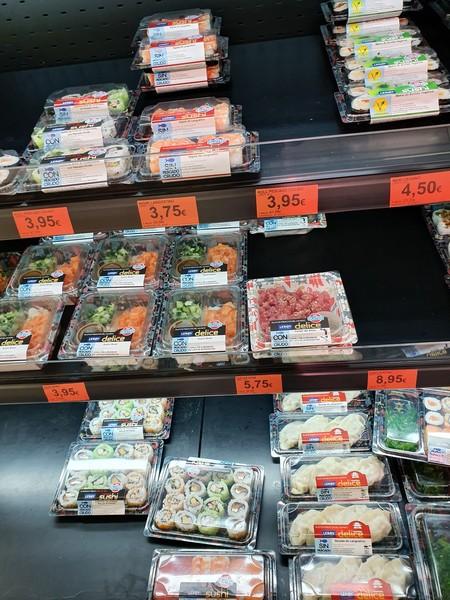 Sushi prêt à manger