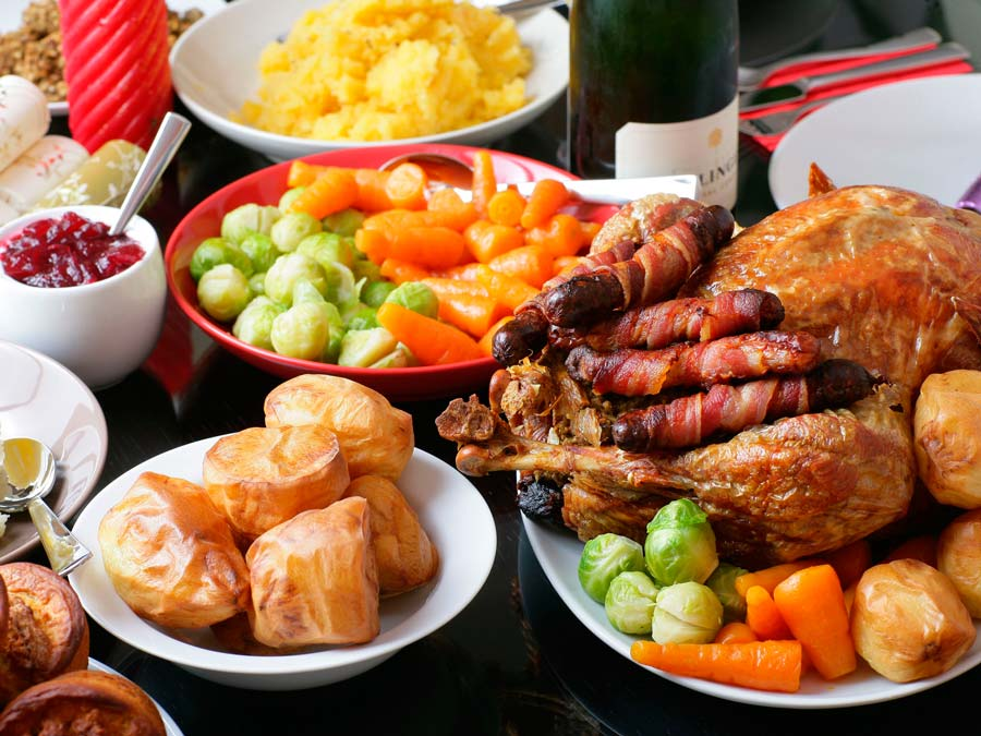 Conseils de dîner léger de Noël