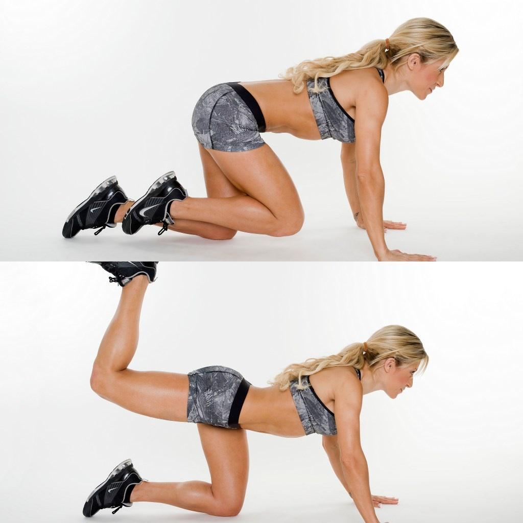 exercice de levage des jambes des fesses