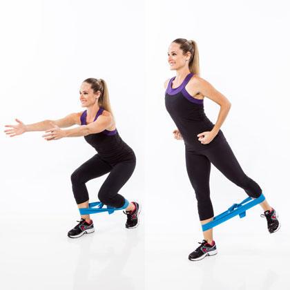 les squats latéraux réduisent progressivement la taille et augmentent les fesses