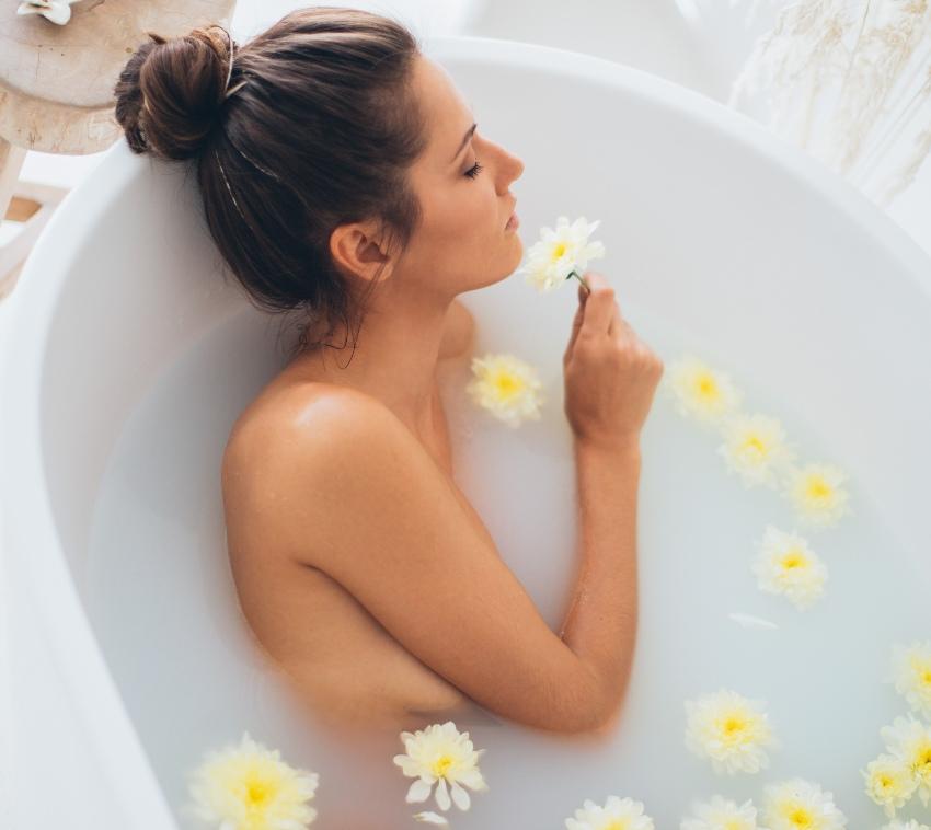 Exfoliation au bain moussant
