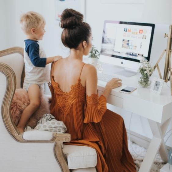 Robe longue de bureau à domicile