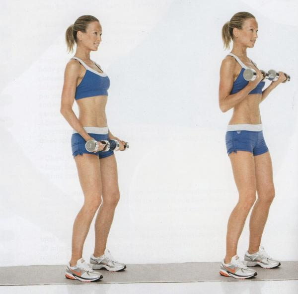 Exercices de bande de résistance pour les bras