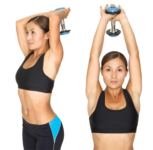 Boucles de bras pour éliminer la cellulite